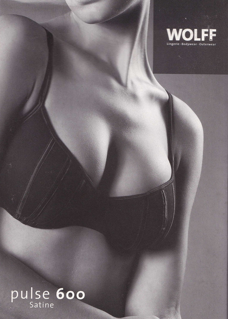 WOLFF pulse 600 Satine Bra black