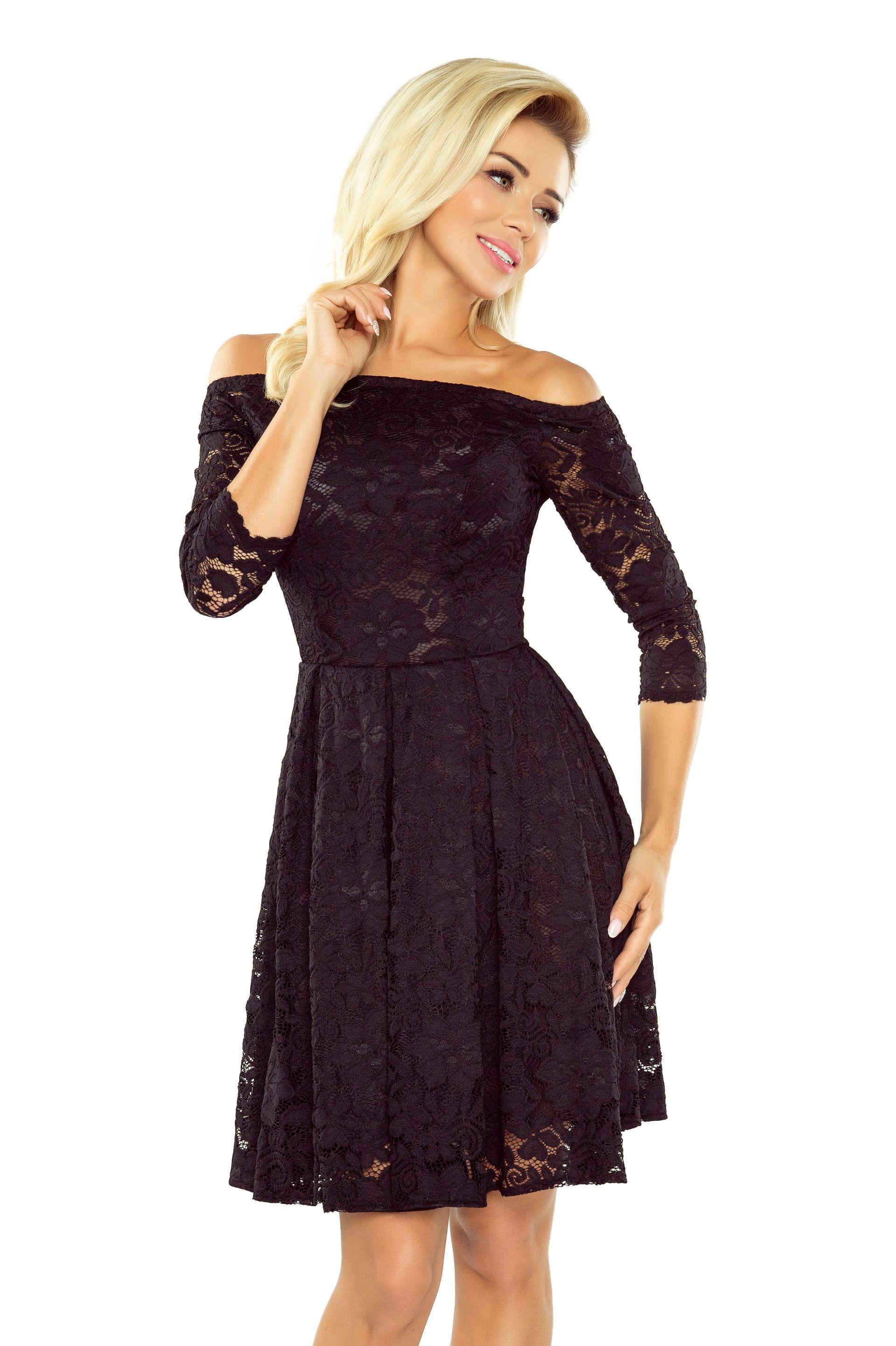5903fd022c01 Laropa   Elegantní dámské krajkové šaty s otevřenými rameny